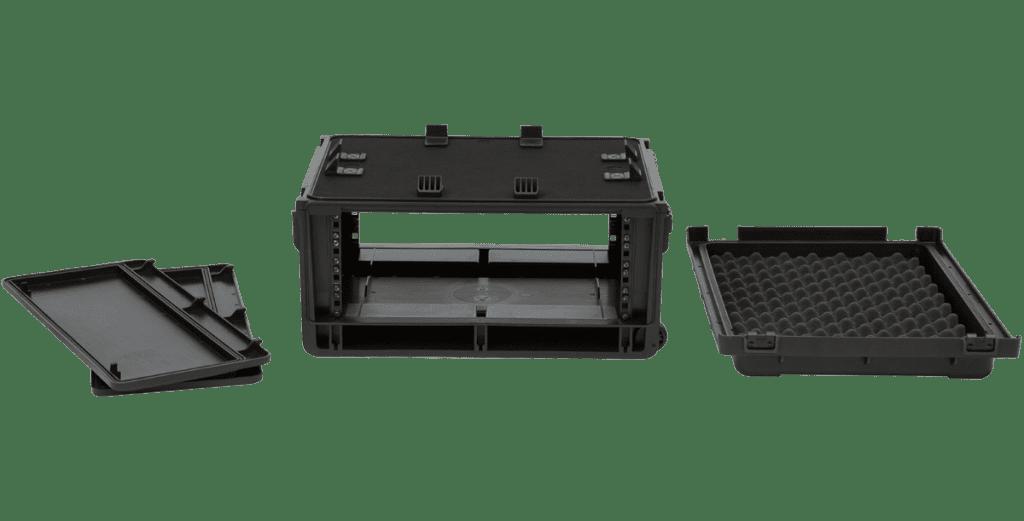 SKB Injection Molded 4U Studio Flyer Rack Case