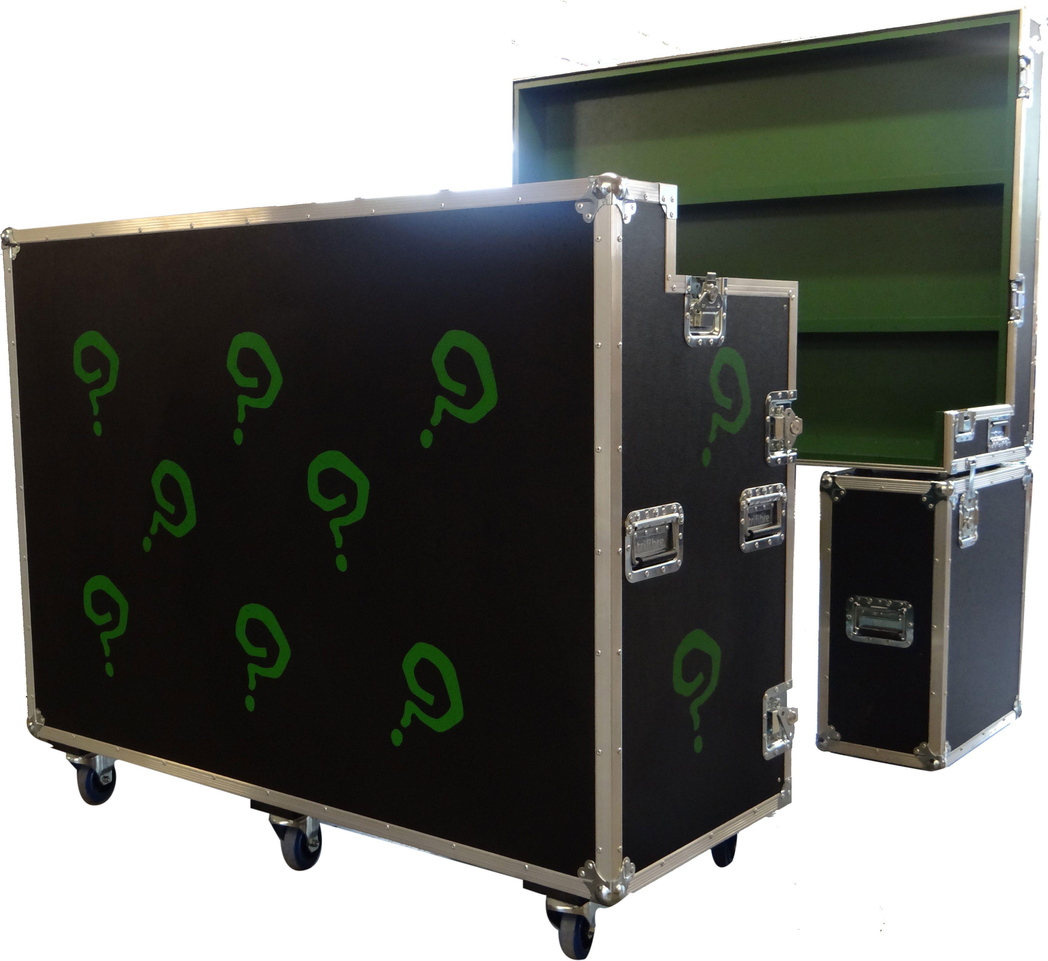 Custom Made Flight Case Bar with Screen Printed Customisation