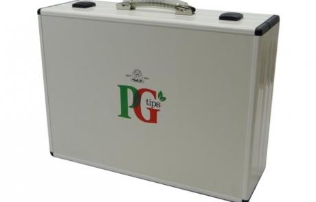 bepsoke aluminium presentation case for PG Tips