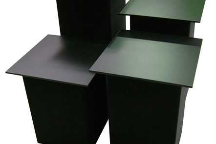 Square-Table-Topped-Visual-Display-Plinths