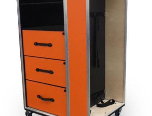 Orange Medical Transport Trolley