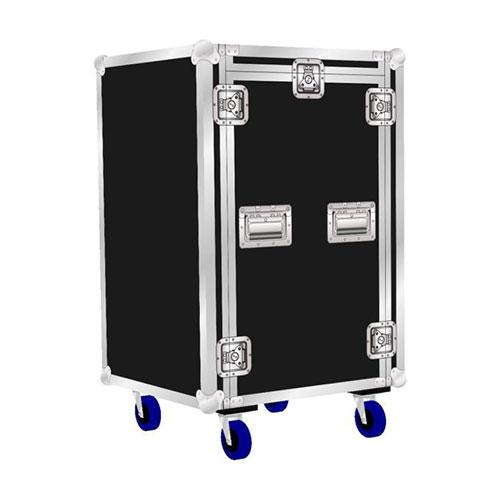 6-18 Unit Rack Mount Flight Case 3 Door With Top Tilt Rack