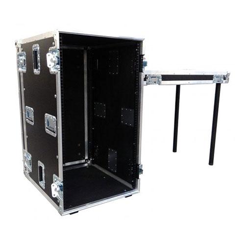 18-24 Unit Rack Mount Flight Case Pullout Desk