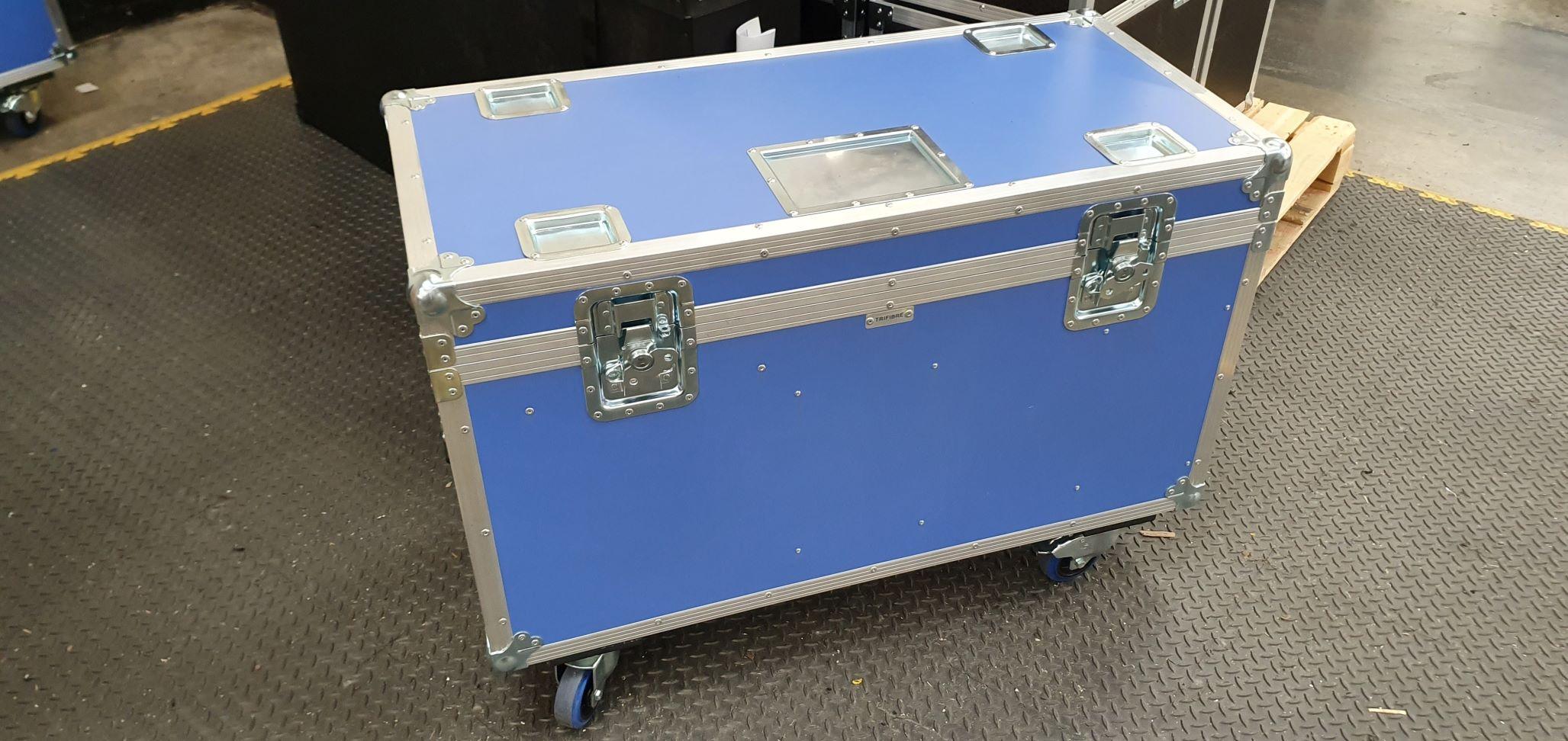 Road Trunk Flight Case - 2 Compartments & Adjustable Division Slots