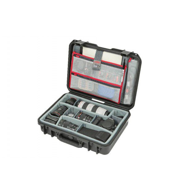 SKB ISERIES 1813-5 CASE W/THINK TANK DESIGNED DIVIDERS & LID ORGANIZER