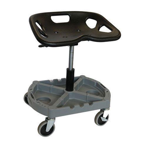 Challenger 4 Wheel Garage Mechanics Seat - With Organiser Tray