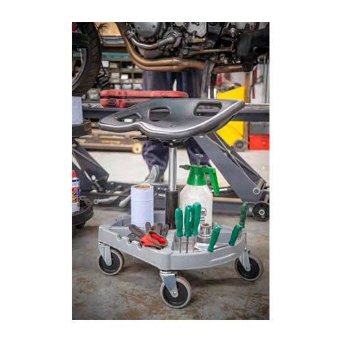 Challenger 4 Wheel Garage Mechanics Seat – With Organiser Tray
