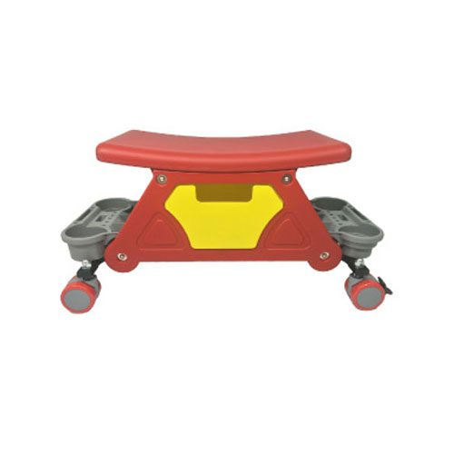 Challenger 4 Wheel Garage Mechanics Stool - With Drawer & 2 X Side Tool Tray - 65mm Wheel