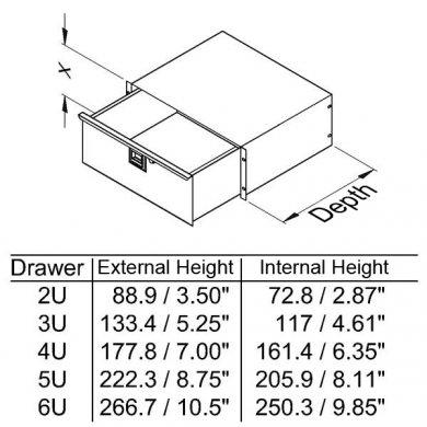 5U Rack Drawer 455mm/18″ Deep