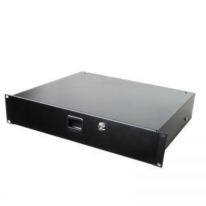 2u lockable rack drawer