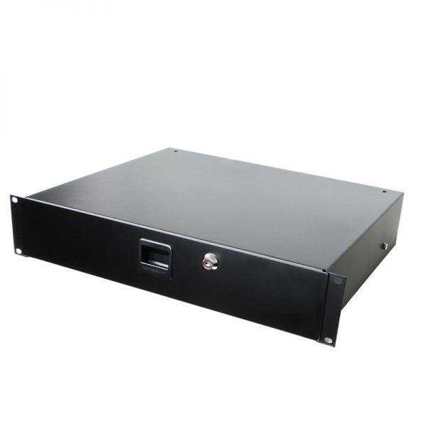 2u lockable rack drawer