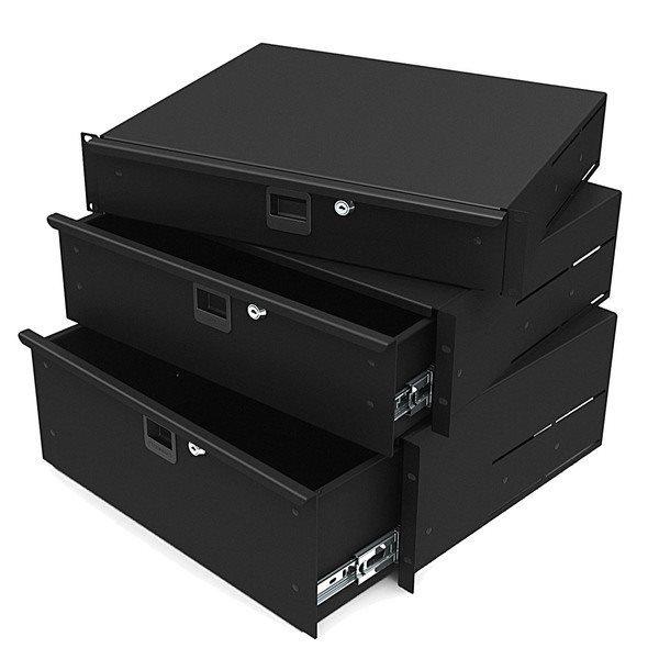 4u aluminium rack drawer
