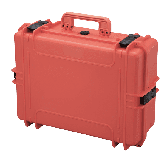 MAX505 Red Tough IP67 Rated Case With Pick & Pluck Foam